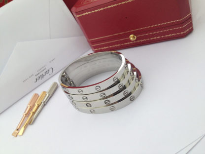 White Gold Cartier Love Bracelet size 16, 17, 18, 19cm