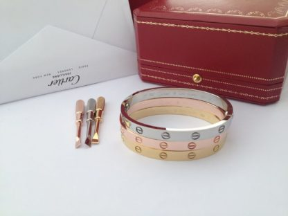 Cartier love bracelet pink gold, yellow gold, white gold