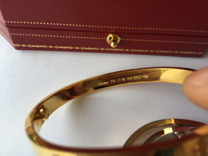 Cartier love bracelet yellow gold comes with Great Markings and Engravings