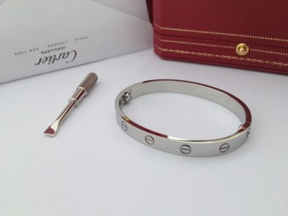 Cartier Love Bracelet White Gold without diamonds