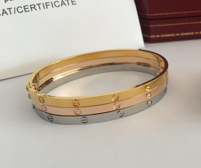 Cartier Love Bracelet SM Yellow Gold, Pink Gold, White Gold