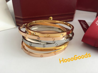 Cartier Love bracelet Small Model in yellow gold, pink gold, white gold
