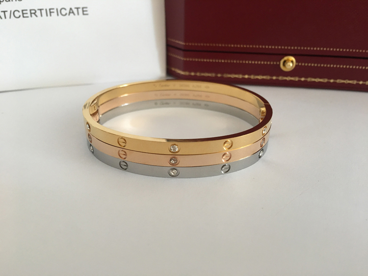 Cartier Love Bracelet Sm 6 Diamonds In