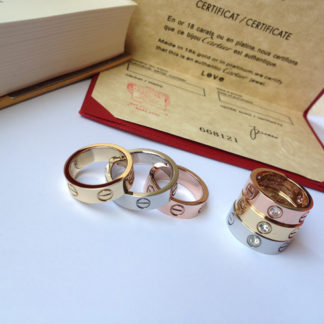 Cartier Love Ring diamonds yellow gold, pink gold, white gold