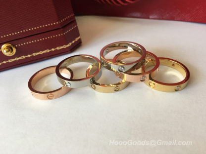 Cartier Love wedding band diamonds pink gold, white gold, white gold