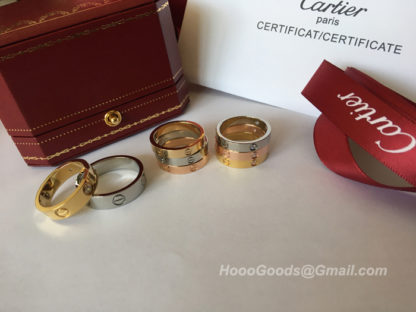 Cartier Love Ring Small Model yellow gold, white gold, pink gold