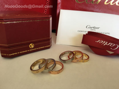 Cartier Love Ring SM yellow gold, white gold, pink gold