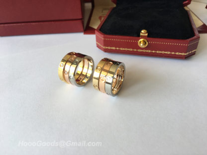 Small Model Cartier Love Ring yellow gold, white gold, pink gold