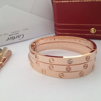 Cartier love bracelet diamonds rose gold