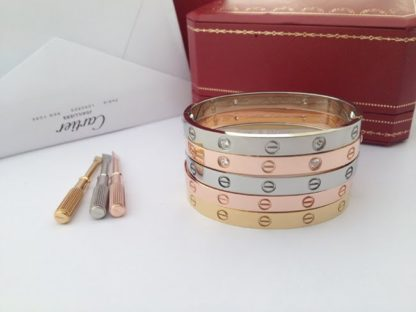 Cartier love bracelet rose gold, yellow gold, white gold 4 diamonds and without diamonds