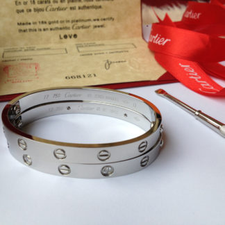 Cartier love bracelet 4 diamonds white gold
