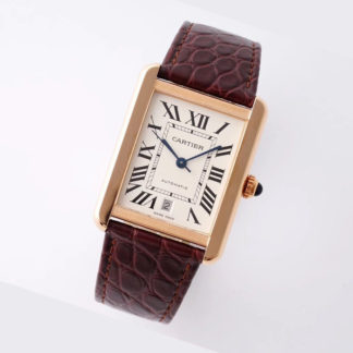 Cartier Tank Solo XL Pink Gold Leather W5200026