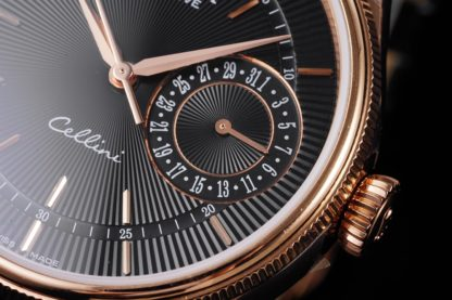 Rolex Cellini Date Watch 39mm rose gold black dial M50515-0011