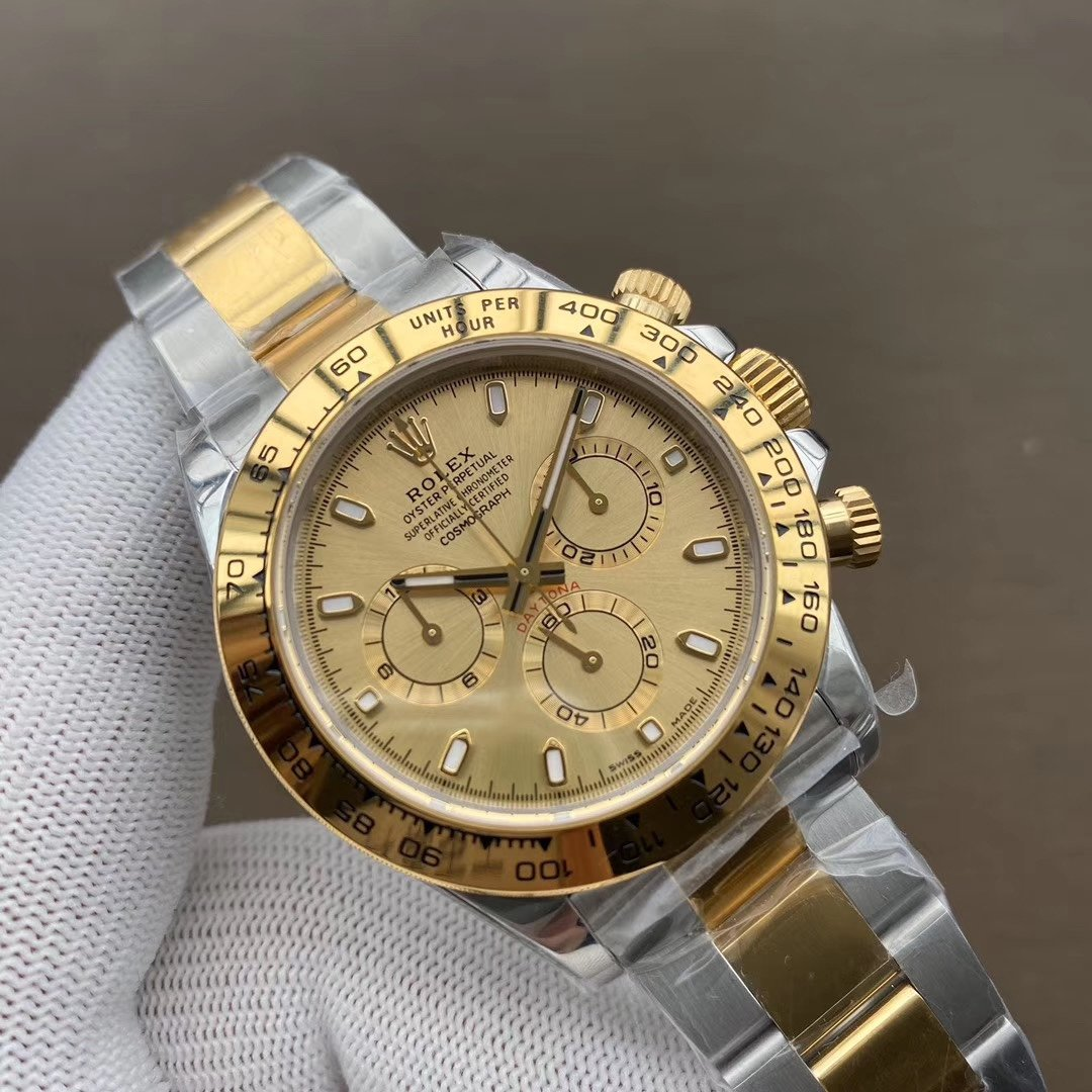 Rolex Cosmograph Daytona Watch Yellow Gold champagne-colour dial and Oyster bracelet 40mm M116503-0003