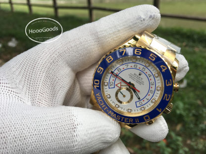 Rolex YACHT-MASTER II, Oyster, 44 mm, yellow gold with a blue Cerachrom insert