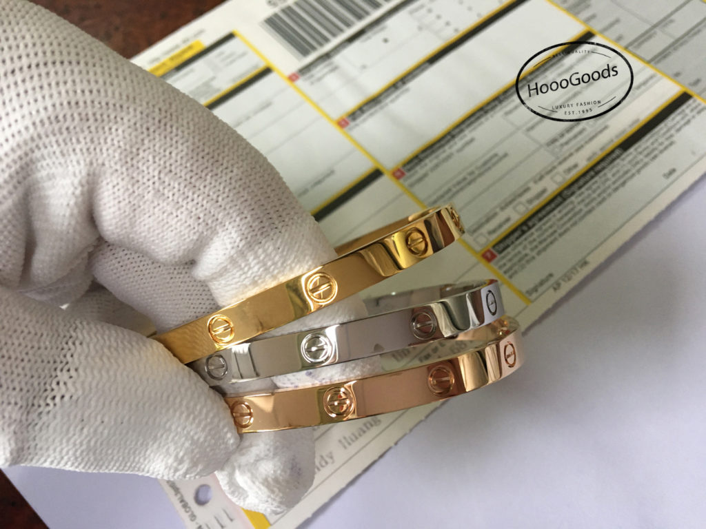 Shipped CARTIER LOVE BRACELETS to Customer in the U.S. BY DHL!