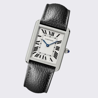 Cartier Tank Solo Watch Large Model Steel Leather Strap WSTA0028