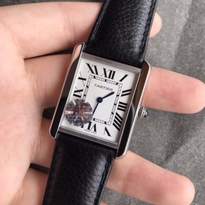 Cartier TANK SOLO WATCH large Leather Strap
