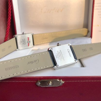cartier tank solo watch large model leather strap