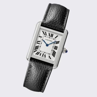 Cartier Tank Solo Watch Small Leather Steel WSTA0030
