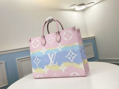 LV Escale Onthego GM Autres Toiles Monogram in Rose