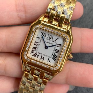 Panthere De Cartier Watch Diamonds yellow gold