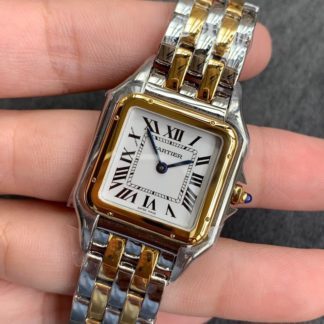 Panthère de cartier watch medium model yellow gold and steel