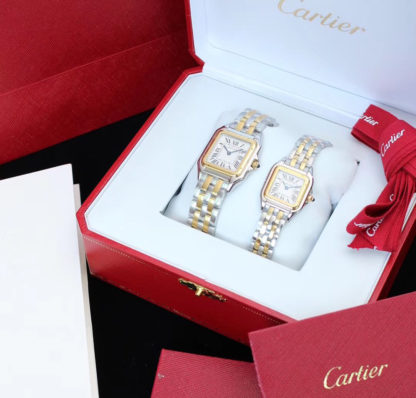 Panthère de cartier watch medium model and small model yellow gold and steel
