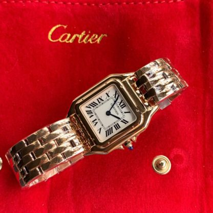 Panthere De Cartier Watch Medium Rose Gold