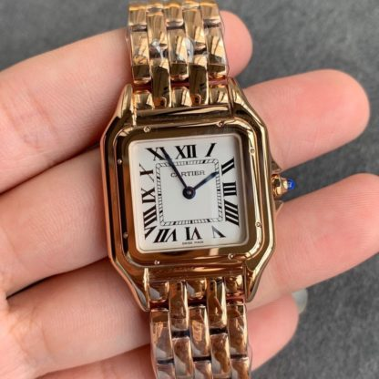 Panthere De Cartier Watch Small Pink Gold WGPN0006