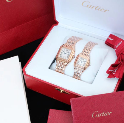 Pink Gold Panthere De Cartier Watch Medium and Small Model