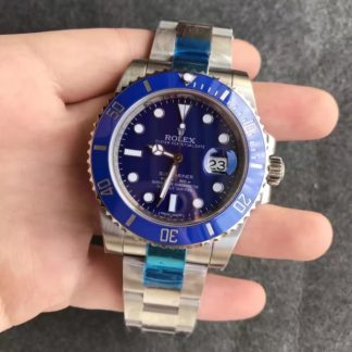 Rolex Submariner Date Blue Dial White Gold 40MM Men's Watch 116619LB