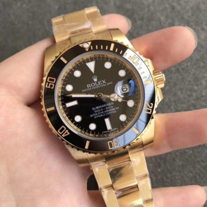 rolex submariner yellow gold black dial