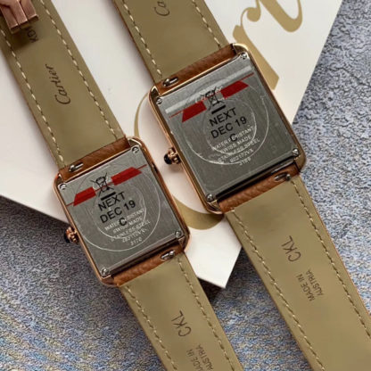 Cartier Tank Solo Pink Gold Watch Small And Large