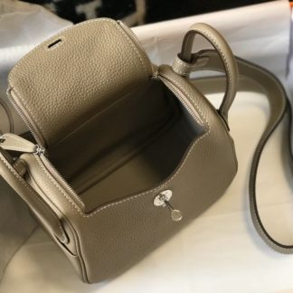 Hermes Lindy Mini Bag Grey Silver