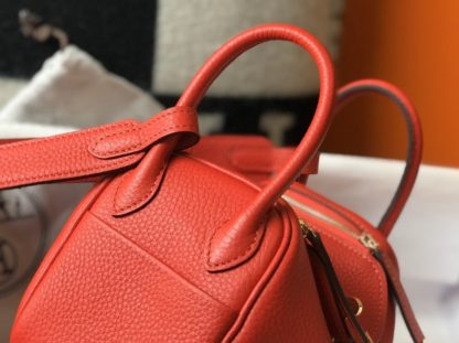 Hermes Red Lindy 20