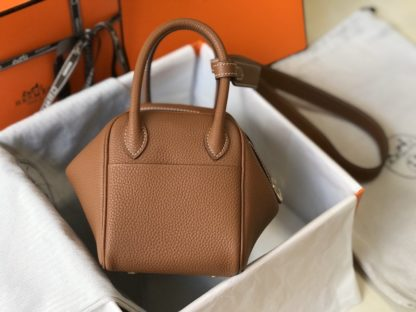 Hermes Gold Mini Lindy 20