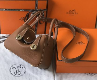 Hermes Gold Mini Lindy