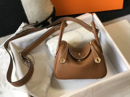 Hermes Mini Lindy Gold