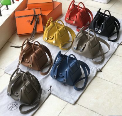 Hermes Lindy mini bag 20 in black, orange, red, yellow, gold ...