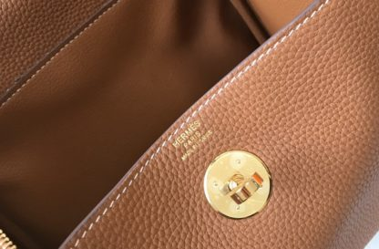 Hermes Lindy Mini Gold