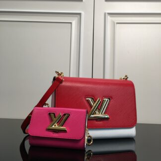 Louis Vuitton TWIST MM AND TWISTY Red/Pink/White M55909