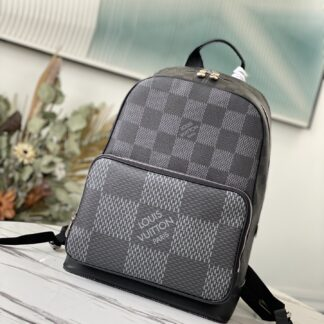 Louis Vuitton Campus Backpack Damier Graphite Canvas in Black LV N50009