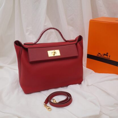 Hermes 24/24 29 red Togo and Swift Calfskin