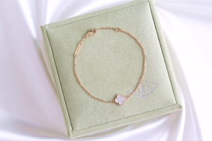 Van Cleef Sweet Alhambra bracelet yellow gold white mother-of-pearl VCARF68800