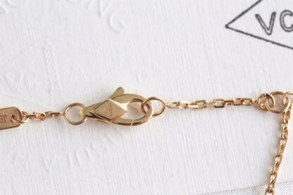 VCA Sweet Alhambra bracelet yellow gold white mother-of-pearl